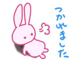 Pink little rabbit sticker #1290765