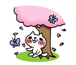 The White Kitten Kitty event version sticker #1292419