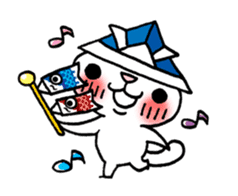The White Kitten Kitty event version sticker #1292423