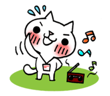 The White Kitten Kitty event version sticker #1292427