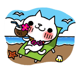The White Kitten Kitty event version sticker #1292433