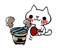 The White Kitten Kitty event version sticker #1292436