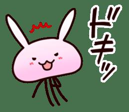 Cat jellyfish & Rabbit jellyfish sticker #1293866