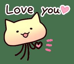Cat jellyfish & Rabbit jellyfish sticker #1293874