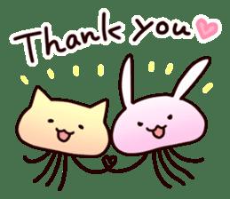 Cat jellyfish & Rabbit jellyfish sticker #1293875