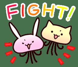 Cat jellyfish & Rabbit jellyfish sticker #1293895
