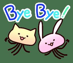Cat jellyfish & Rabbit jellyfish sticker #1293897