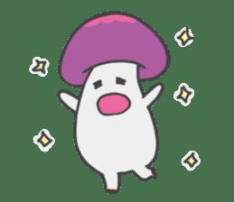 funny mushroom sticker #1295300
