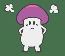 funny mushroom sticker #1295303