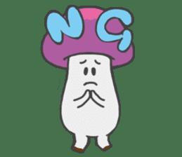funny mushroom sticker #1295309