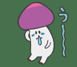 funny mushroom sticker #1295322