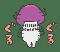 funny mushroom sticker #1295326