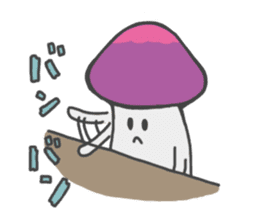 funny mushroom sticker #1295329