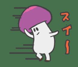 funny mushroom sticker #1295330