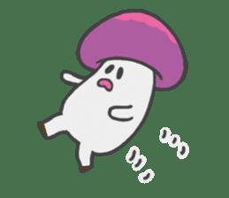 funny mushroom sticker #1295335