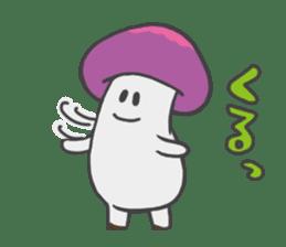 funny mushroom sticker #1295337