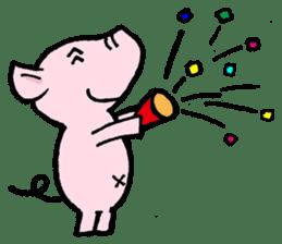 Little piggy Tony sticker #1303021