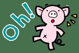 Little piggy Tony sticker #1303022