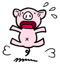 Little piggy Tony sticker #1303024