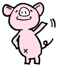 Little piggy Tony sticker #1303057