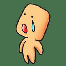 "Cute alien ""Mr square"" sticker #1304740"