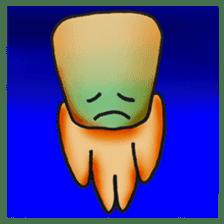 "Cute alien ""Mr square"" sticker #1304748"