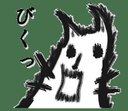 Brush cat sticker #1305671