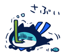 Mieben ninja cat sticker #1306173