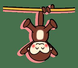 A lovely monkey sticker #1306301
