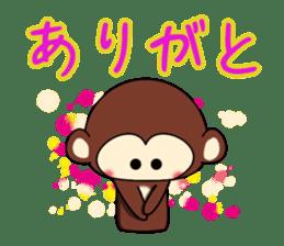 A lovely monkey sticker #1306309
