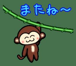 A lovely monkey sticker #1306315