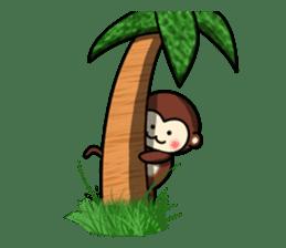 A lovely monkey sticker #1306317