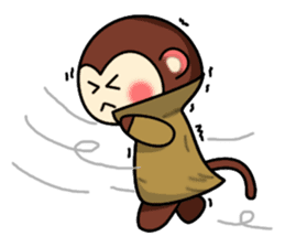 A lovely monkey sticker #1306326