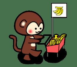 A lovely monkey sticker #1306333