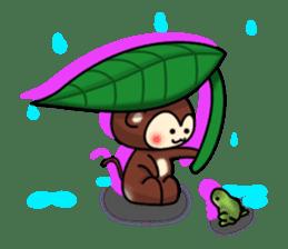 A lovely monkey sticker #1306334