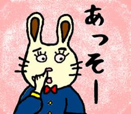 Rabbit's Lappy! sticker #1306540