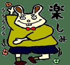 Rabbit's Lappy! sticker #1306541