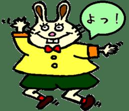 Rabbit's Lappy! sticker #1306548