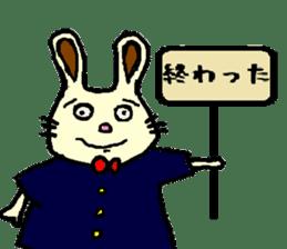 Rabbit's Lappy! sticker #1306549