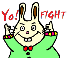 Rabbit's Lappy! sticker #1306550