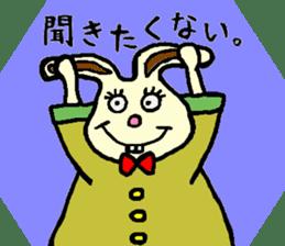 Rabbit's Lappy! sticker #1306552