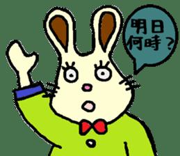 Rabbit's Lappy! sticker #1306554
