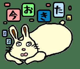 Rabbit's Lappy! sticker #1306556