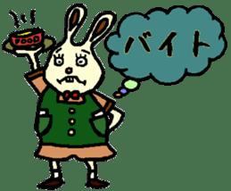Rabbit's Lappy! sticker #1306569