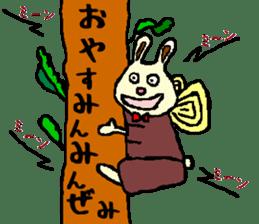 Rabbit's Lappy! sticker #1306574