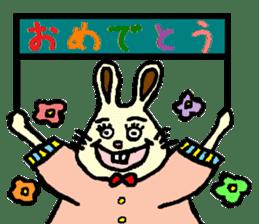 Rabbit's Lappy! sticker #1306576