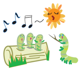 Funny Caterpillar & Friends sticker #1307278