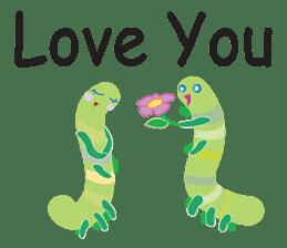 Funny Caterpillar & Friends sticker #1307279