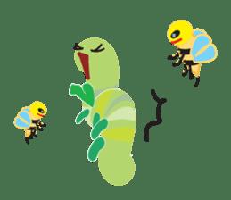 Funny Caterpillar & Friends sticker #1307280