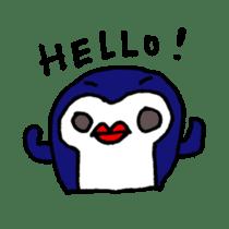 lips penguin sticker #1308098